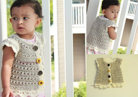 Pattern: Crochet Sweater Jacket Bolero Baby Newborn Toddler Winter ...