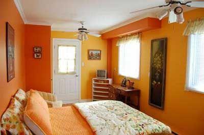 Pin de doly gallardo caballero en decoraci n de interiores - Habitaciones color naranja ...