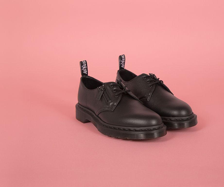 Dr Martens 1461 W/Zip Black Aunt Sally Shoe