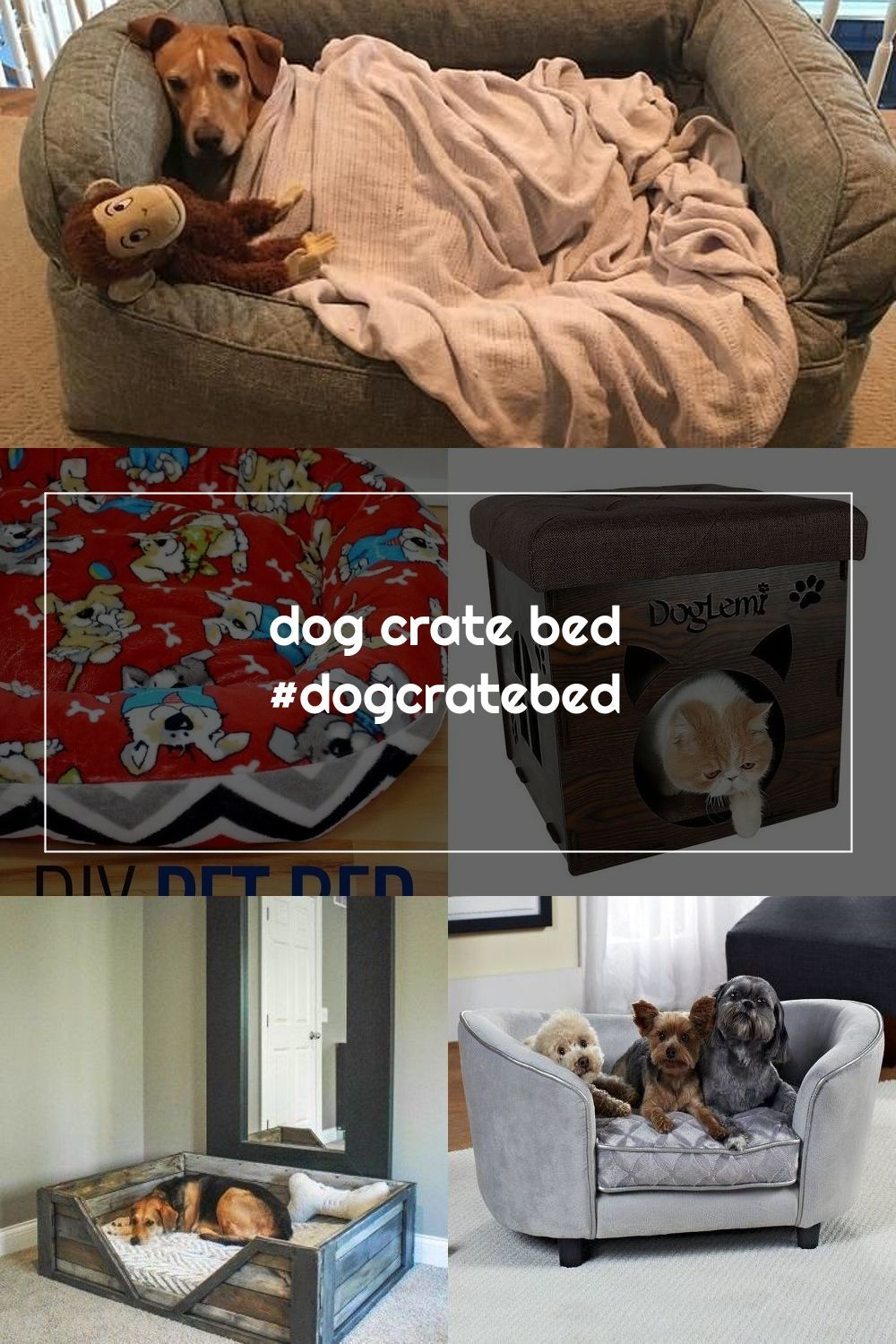 Dog Crate Bed Dogcratebed In 2020 Dog Crate Bed Crate Bed Dog Crate
