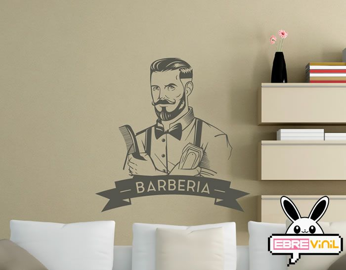 Vinilo decorativo para barber as tanto para paredes como - Cristales decorativos para paredes ...