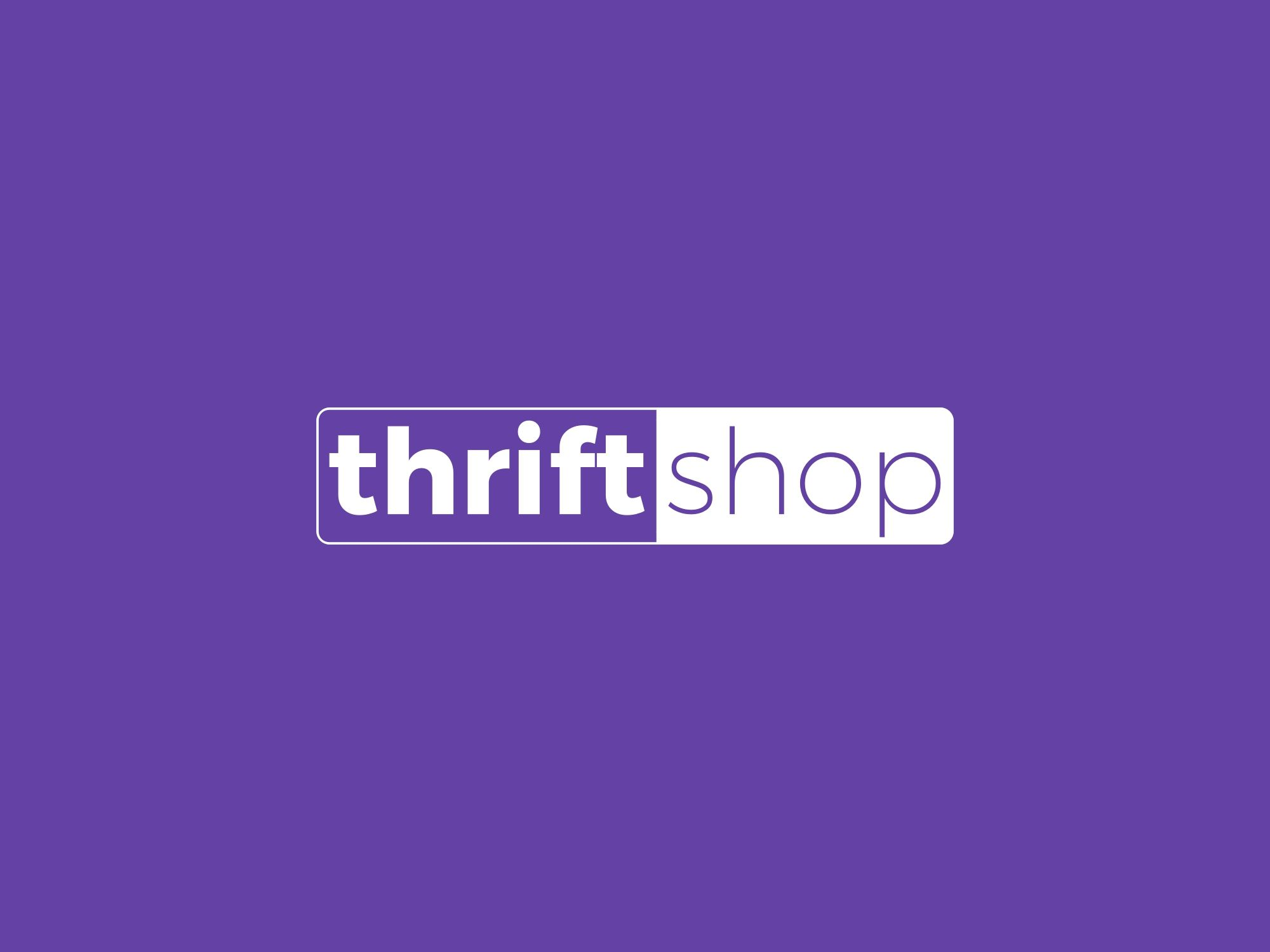 Thrift Shop Purple Logo Design Purple Logo Design Purple Logo Shop Logo Design