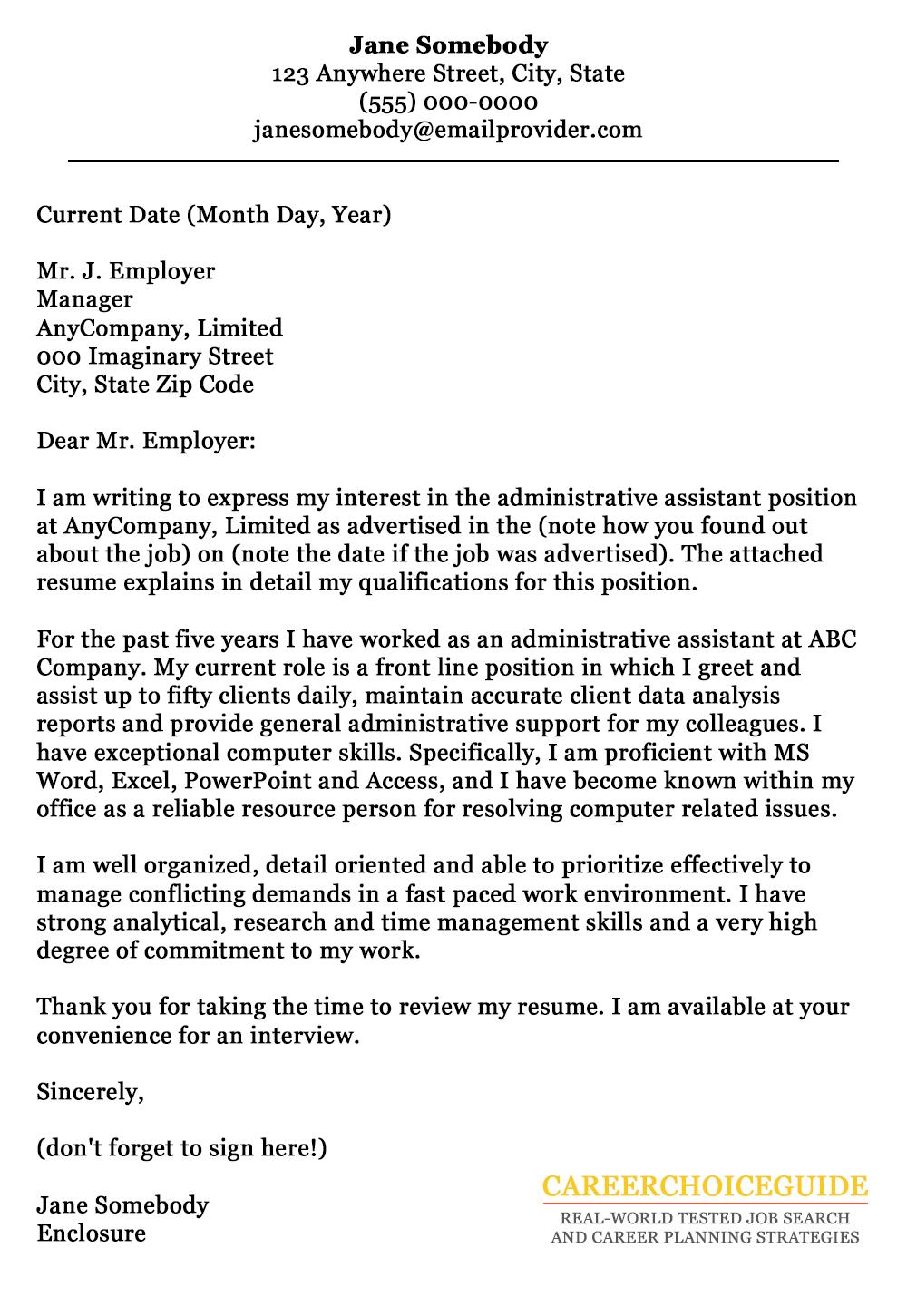 Application letter for school enrollment