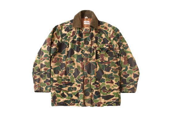 af89dbaf43d4c Camo hunting jacket men's vintage duck camouflage saftbak hunting ...