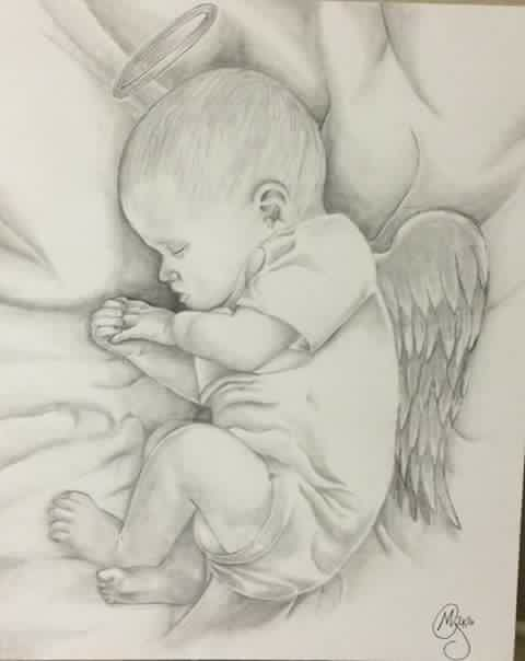 Baby with angel wings- gone to early from liver disease ...