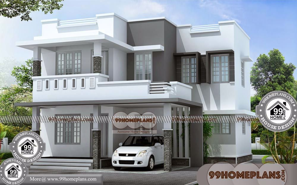 New House Plans Kerala Model With Floor Plan For Double Storey House Having 2 Floor 3 Total Bedroom 4 Tot New House Plans Model House Plan Indian House Plans