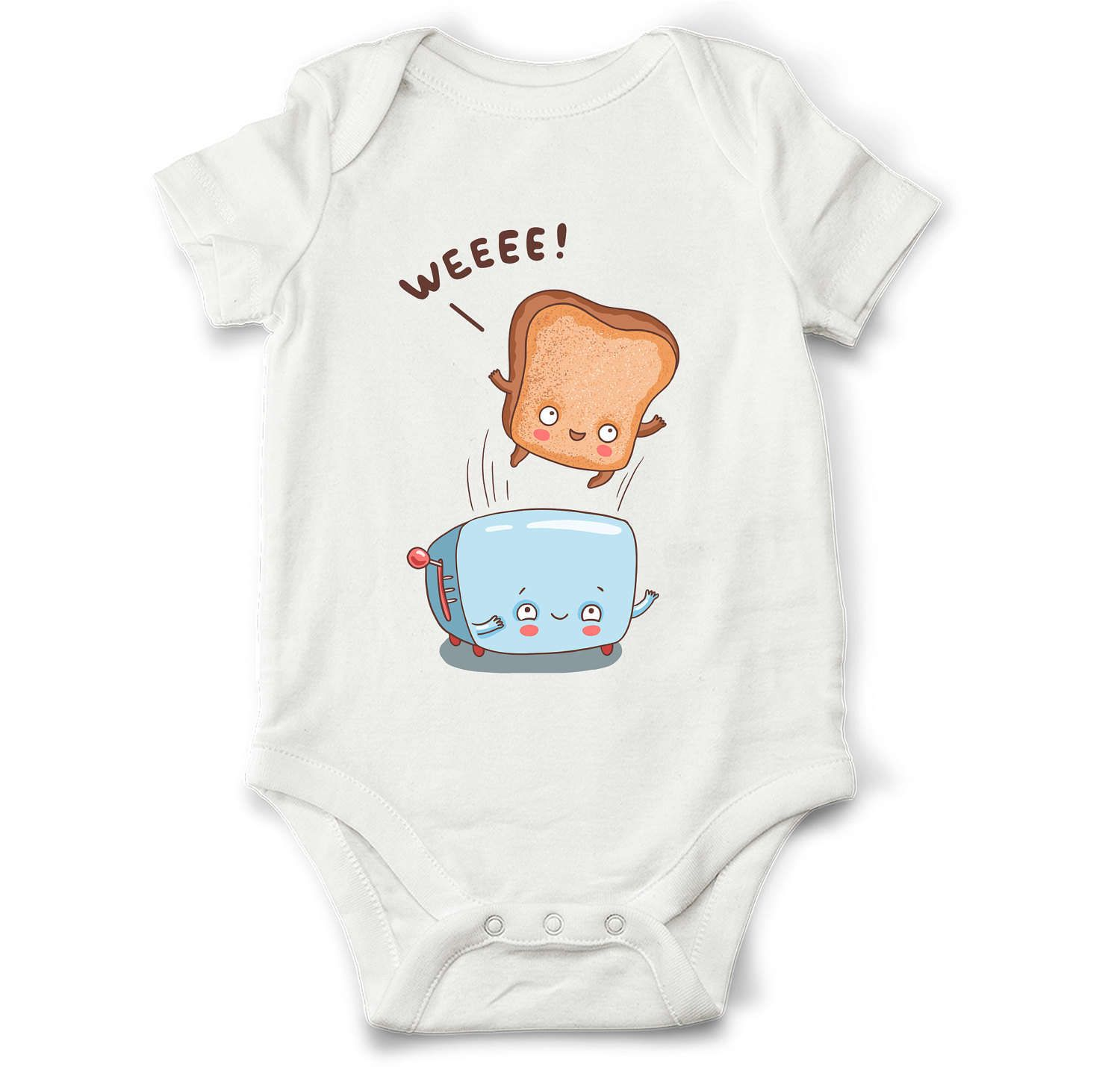 Cute baby bodysuit - Toaster and bread, unique baby gift, cute