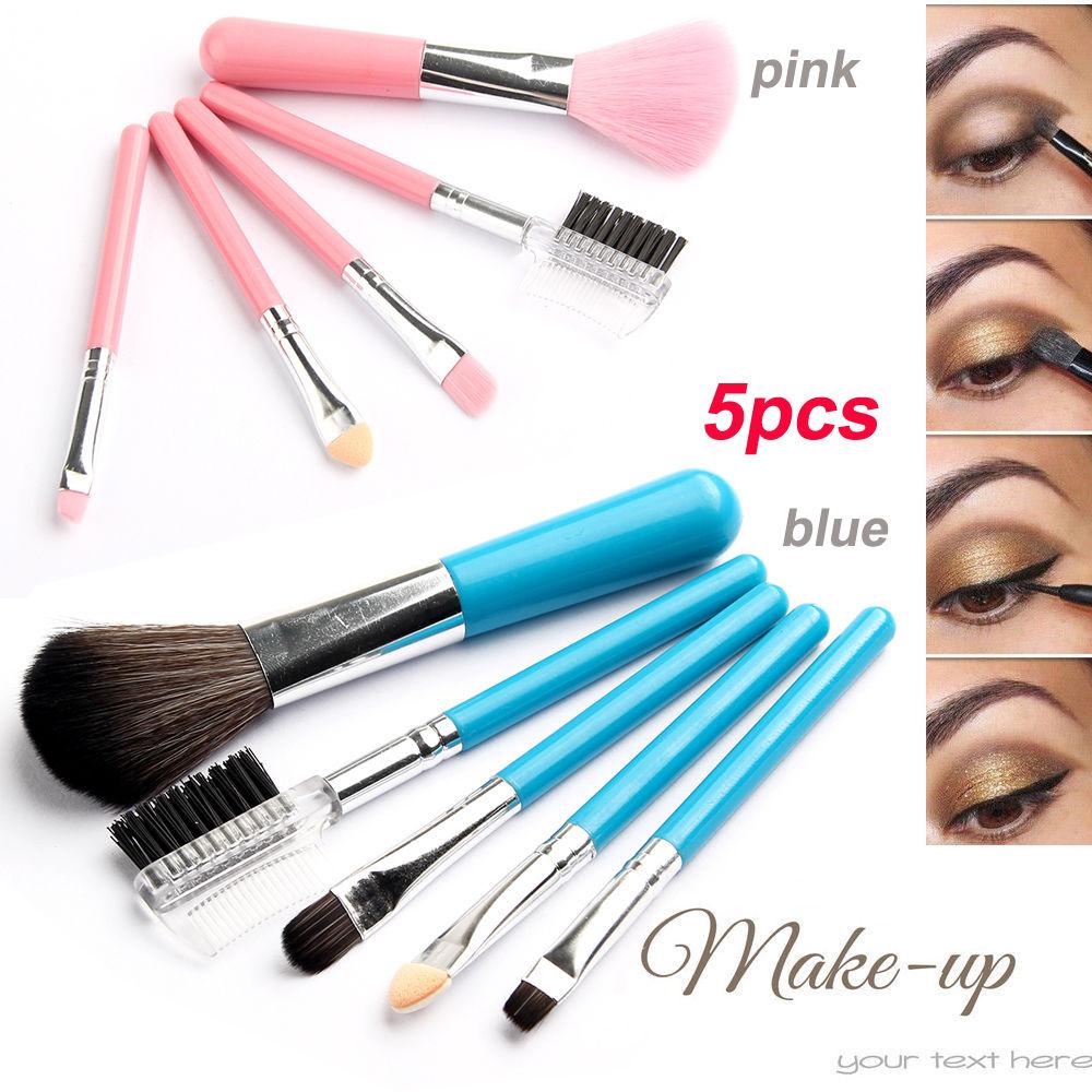 eyebrow brushes kit. 5pcs makeup brush set professional soft cosmetic eyebrow shadow brushes kit