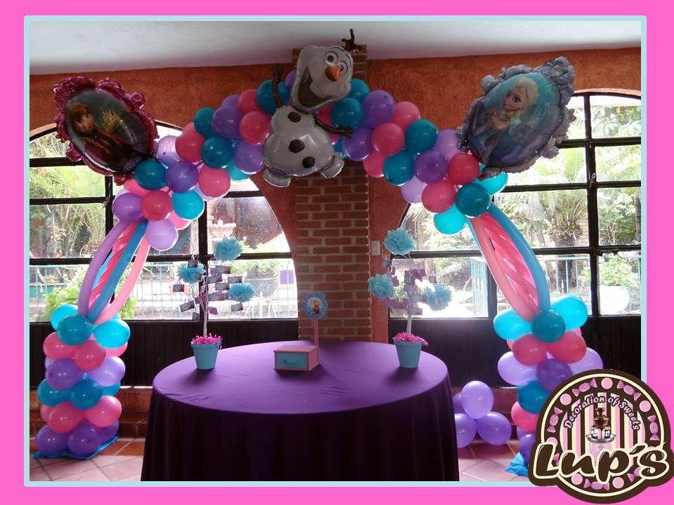 Arco d frozen decoraciones de globos pinterest - Hacer decoraciones con globos ...