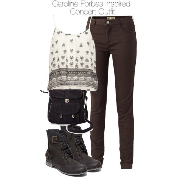 """""""The Vampire Diaries - Caroline Forbes Inspired Concert Outfit"""" by staystronng on Polyvore"""