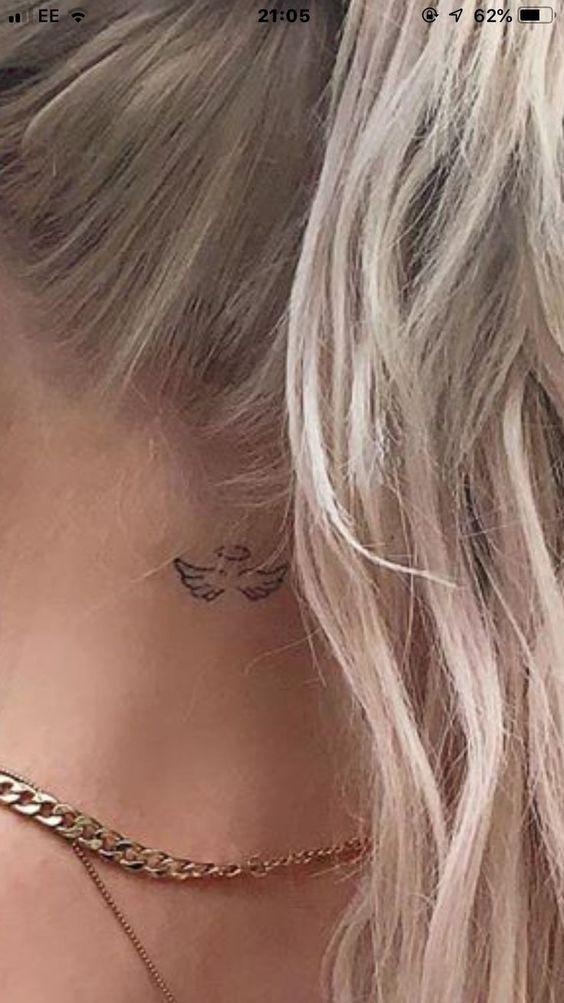 46 Tatuaje de cuello gris simple Loren #gray