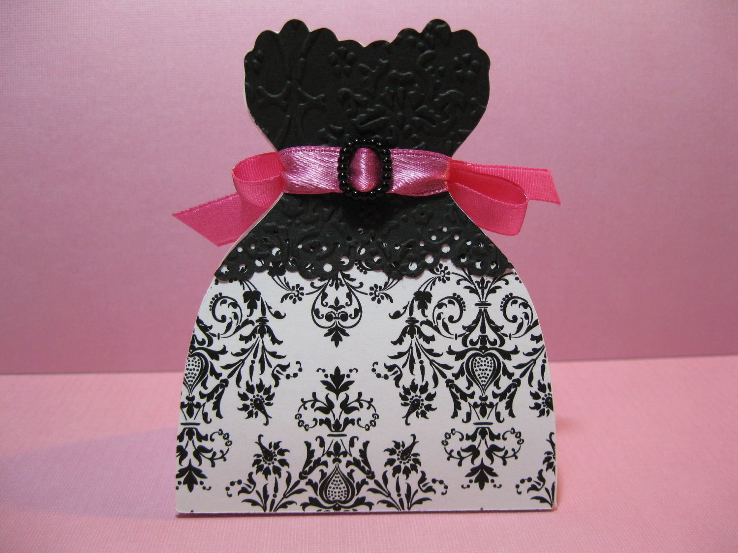 10 Black And White Damask Wedding Black Pink Damask Bride