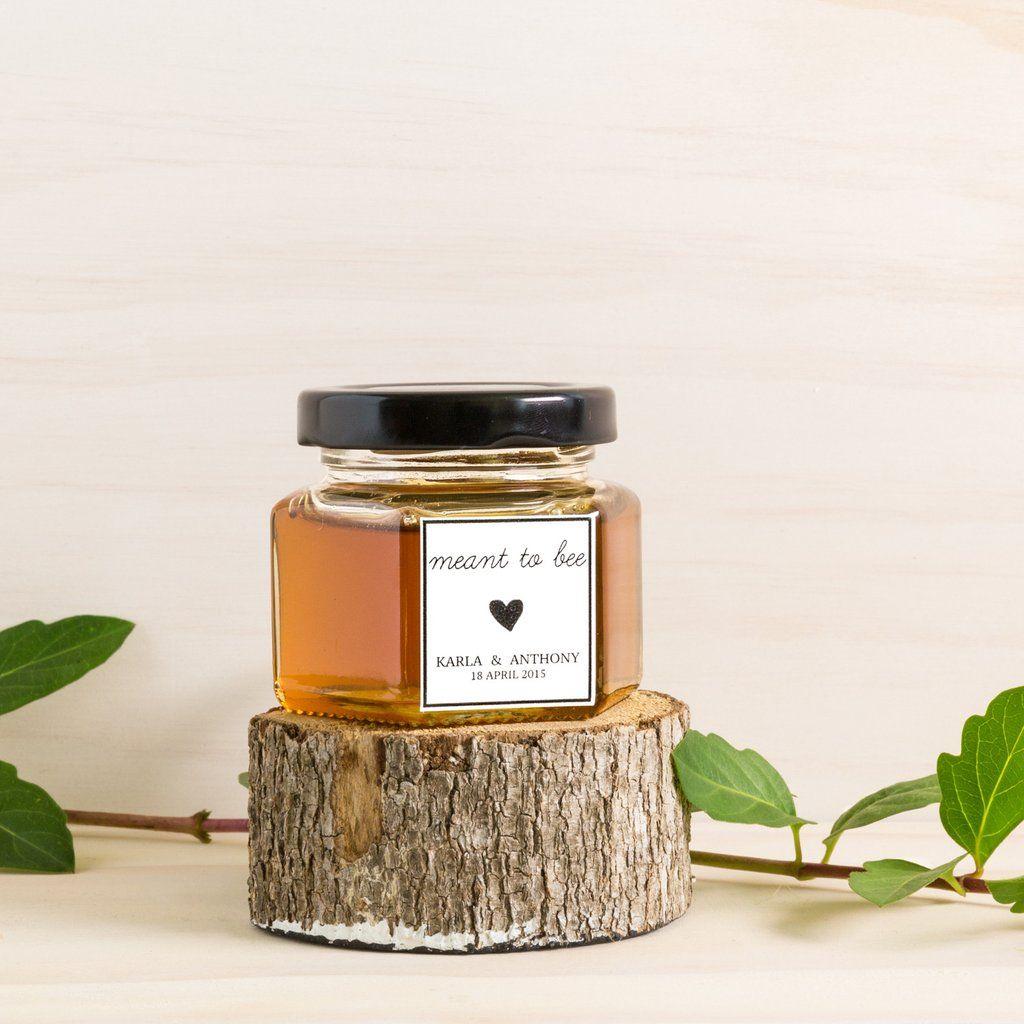 Custom favours local honey jar wedding favour bonbonniere