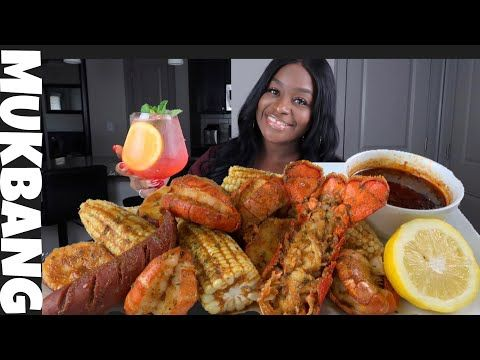 LOBSTER TAILS SEAFOOD BOIL + BLOVESLIFE SMACKALICIOUS SAUCE - YouTube #seafoodboil
