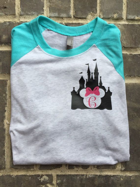 Free Shipping Disney Castle Monogram Unisex by SOUTHERNROOTSCOMP