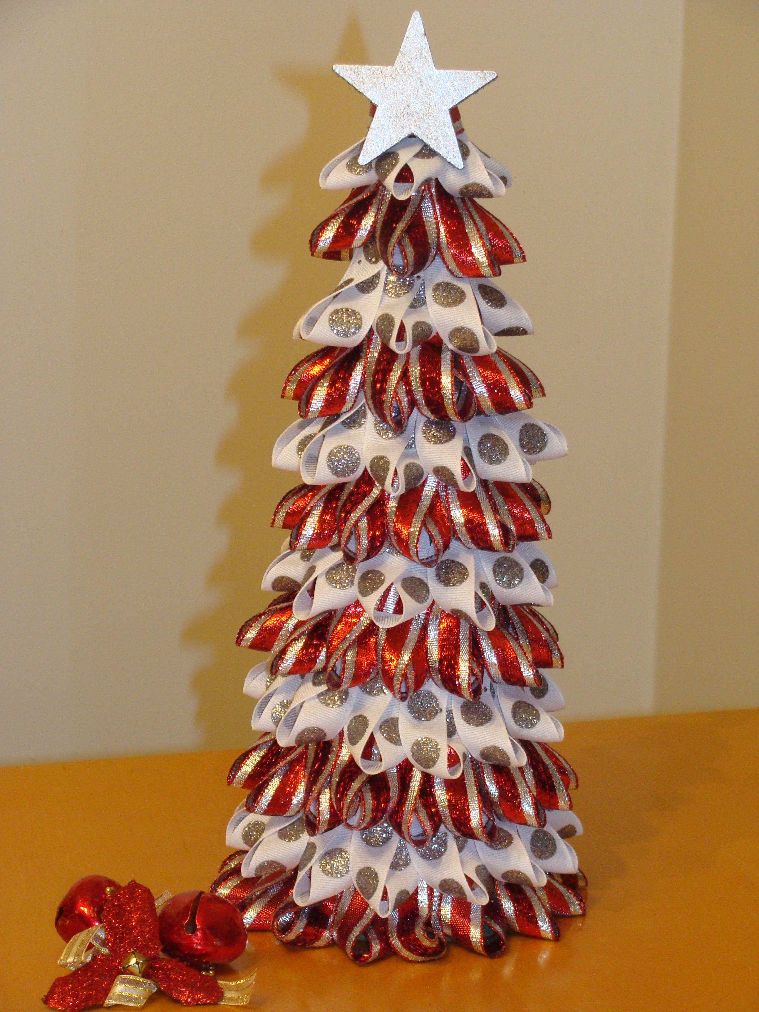 Ribbon Christmas Tree Xmas Ideas Pinterest Christmas
