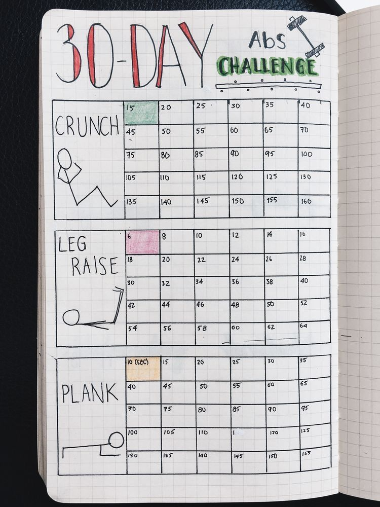 Challenge layout for bullet journal Bits and pieces Pinterest