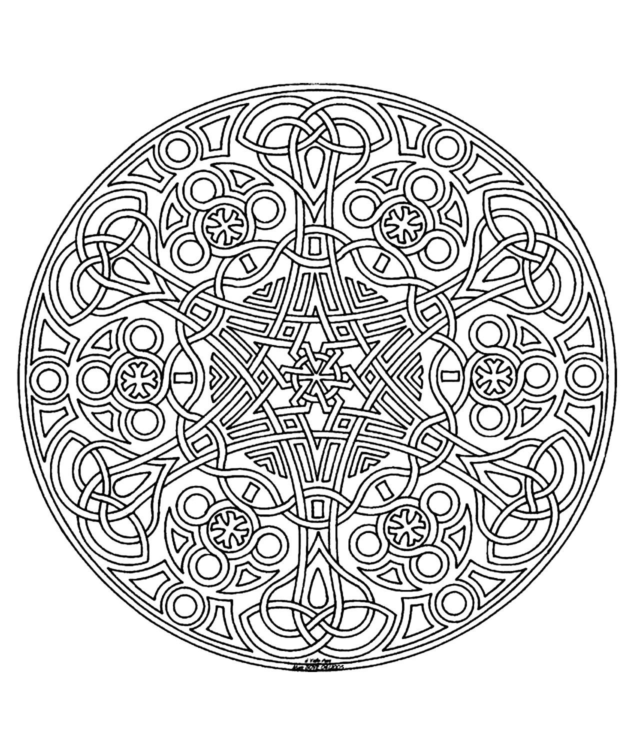 Free mandala coloring pages to print - Free Coloring Page Coloring Free Mandala Difficult Adult To