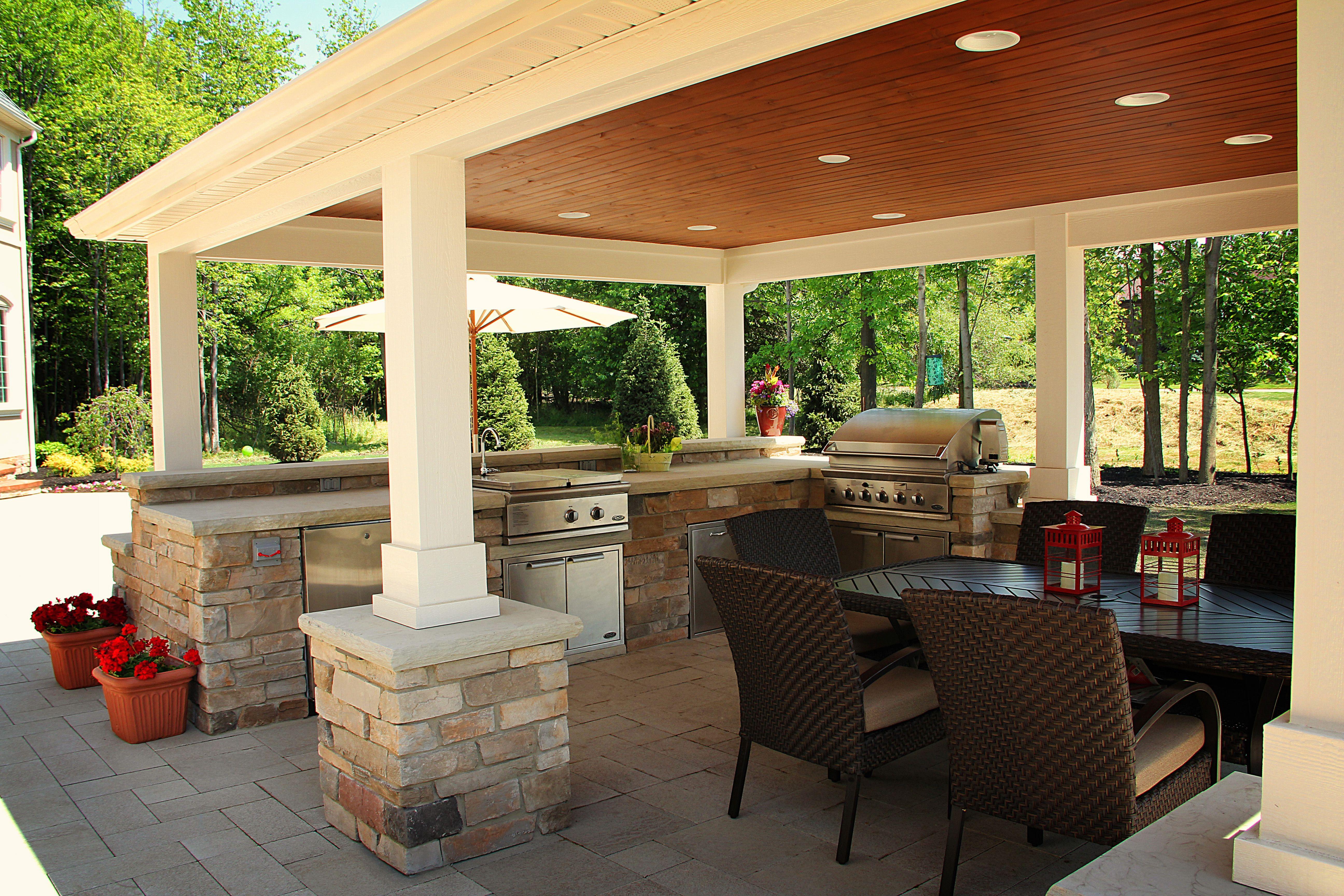 Outdoor Kitchen - Exscape Designs   Outdoor kitchen design ...