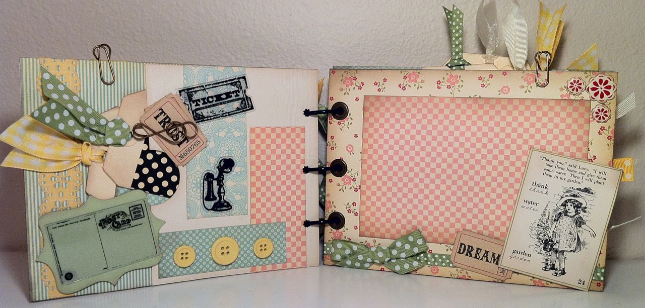 Todo sobre el scrapbooking scrapbook mini lbumes de recortes album de fotos original y - Decoracion de album de fotos ...
