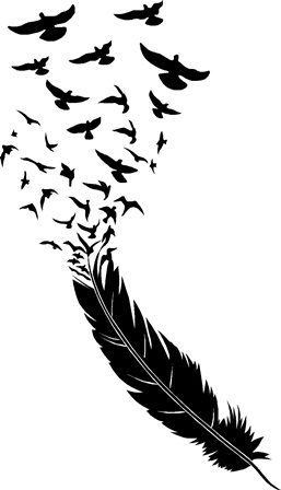 feather blowing birds flying wall art | ideas diseo ...