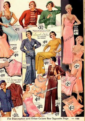lounge wear Spring 1934, USA Bomber Girl: June 2010