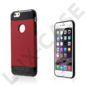 Linna (Punainen) iPhone 6 Leather Suojakuori