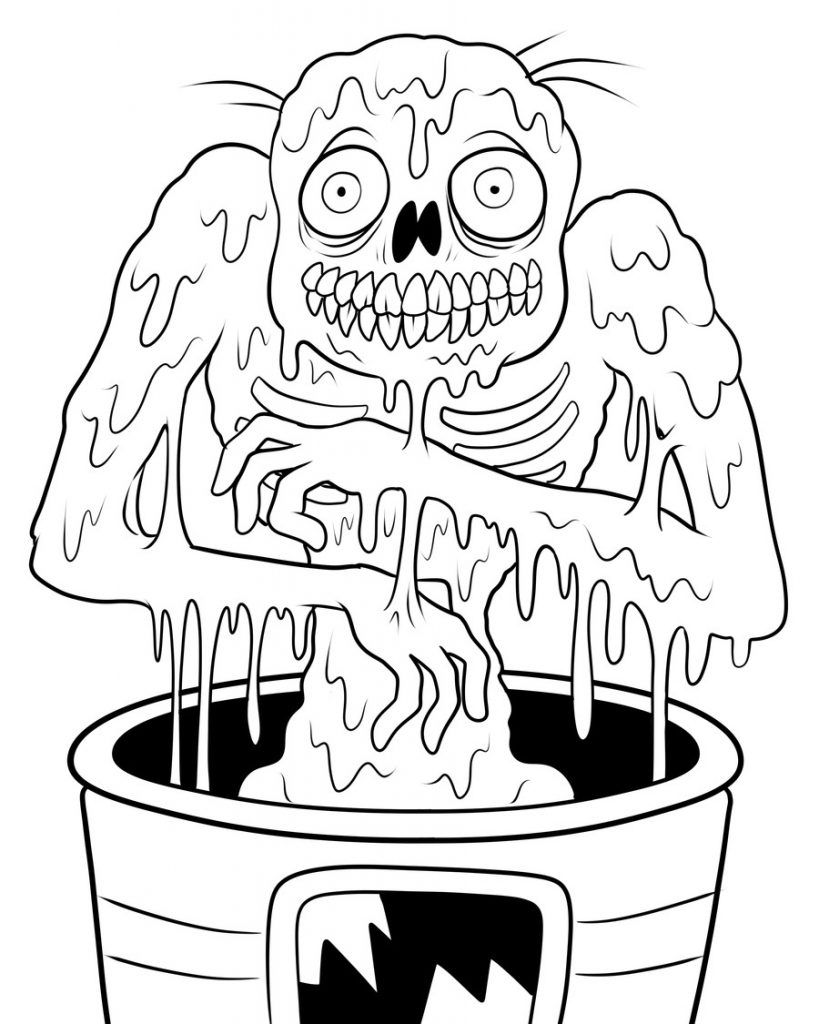 Free Printable Zombies Coloring Pages For Kids Disney Coloring