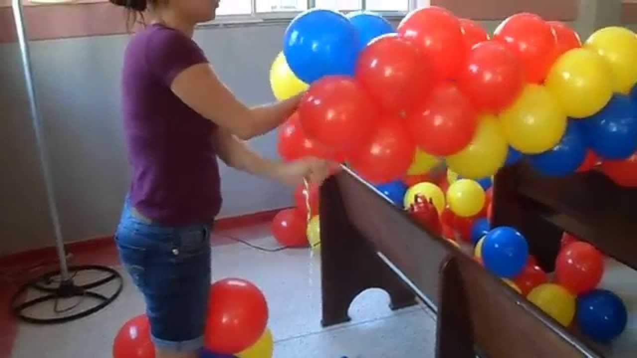 Como Fazer Um Arco De Bolas Tema Carros Balloon Como Fazer Um