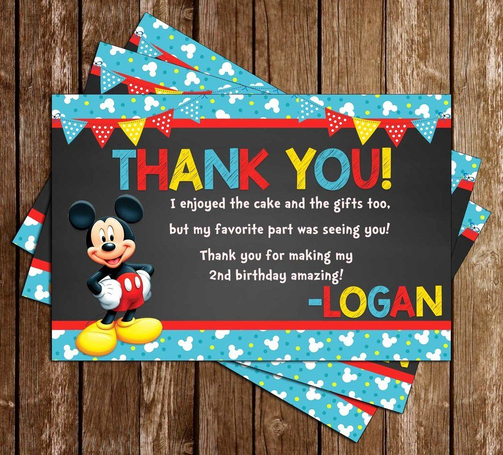 Mickey Thank You Cards Beautiful Novel Concept Designs Mickey Mouse Blue Banner Thank You Card Thank You Cards Diaper Invitation Template Your Cards