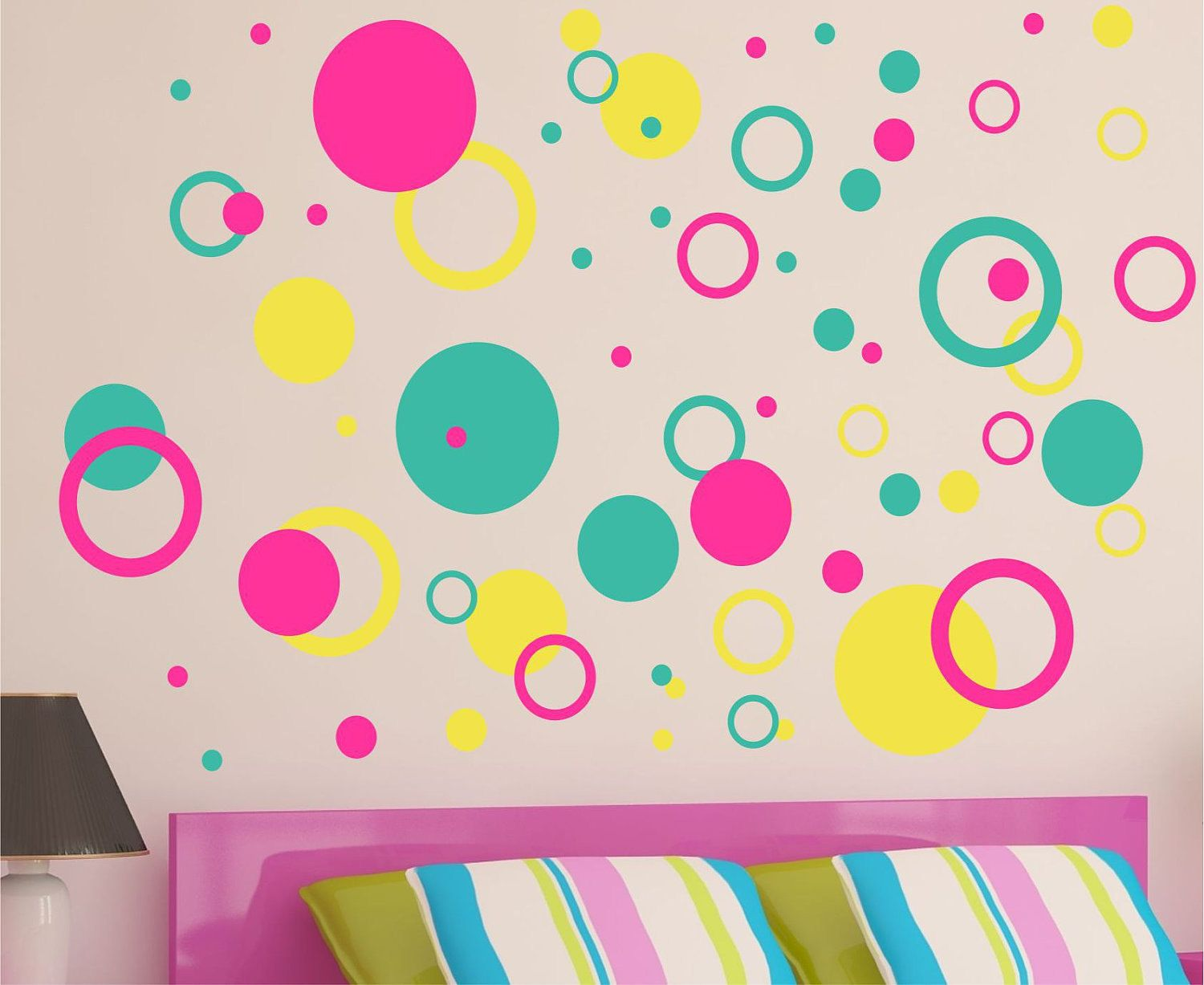 Dots Wall Decals   Rings And Circles Decal   Nursery Wall Art   Childrens  Wall Decal   Kids Vinyl Wall Lettering