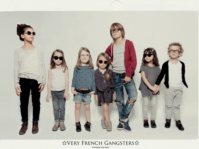 Very French Gangsters, Kid Eyewear #ourpartyof3