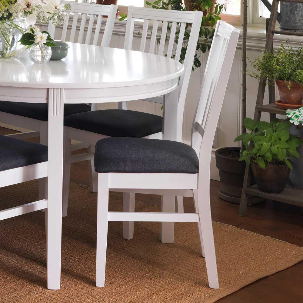 Küchenstuhl Set in Weiß Grau Klassisch (2er Set) Jetzt bestellen ...