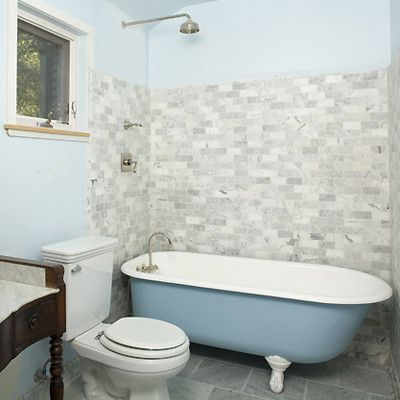 shower with clawfoot tub design pictures remodel decor - Clawfoot Tub Bathroom Designs