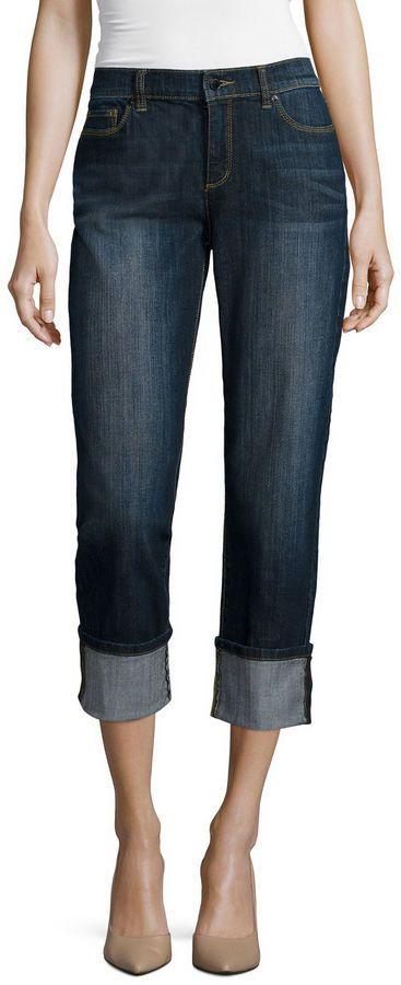 b057032d4a660f Liz Claiborne Curvy Fit Straight Leg Jeans   Products   Tall jeans ...