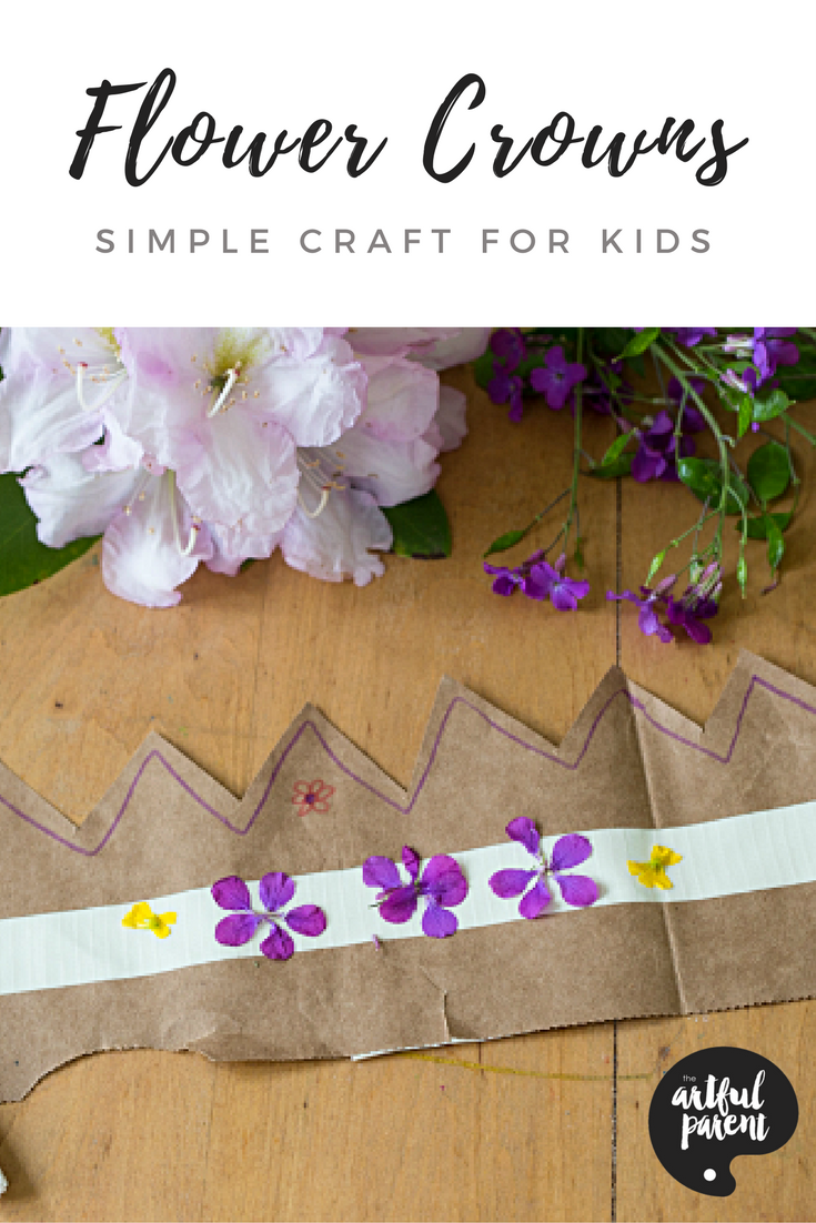 Flower crowns for kids from paper bags and duct tape simple flower crowns for kids from paper bags and duct tape izmirmasajfo