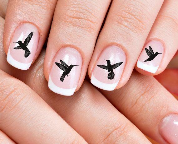 49 HUMMING BIRD / Hummingbird  Nail Art Water by NorthofSalem