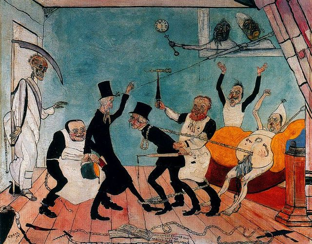 The Bad Doctors (1892 - James Ensor) by JooYoung Choi, via Flickr