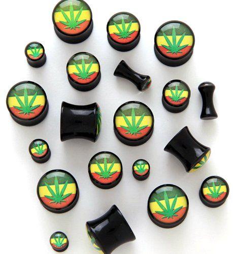 Pair of Pot Leaf Black Arcylic Saddle Plugs - 8G / 3.2mm ULEKStore,http://www.amazon.com/dp/B00G7IMA3E/ref=cm_sw_r_pi_dp_6uDntb0MKJERW6MK