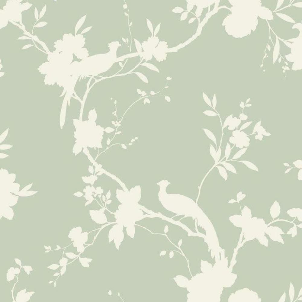 Sage Green 422808 Chinoise Shadow Floral Bird Arthouse