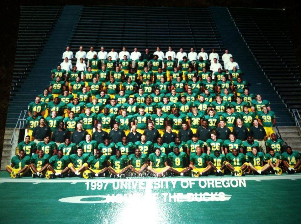 1997 Oregon Ducks Football Team Ducks Football Oregon Ducks