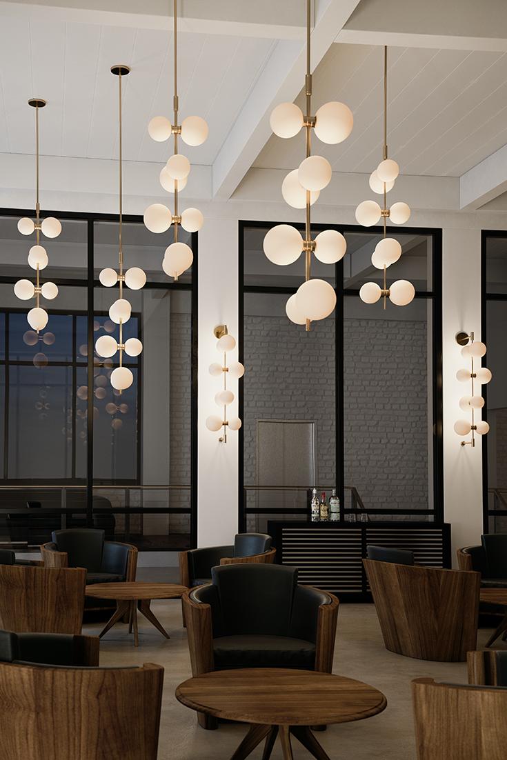 The Aged Brass Modernrail Wall Light By Tech Lighting Showcases The Sophistication Of Modernrail B Living Room Lighting Design Hotel Light Living Room Lighting #unique #living #room #lighting