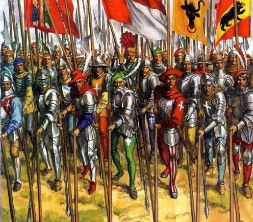 SCA - Medieval pikemen