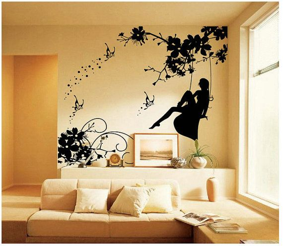 Fairy Wall Art xlarge fairy wall decal vinyl wall art decal sticker fairy on