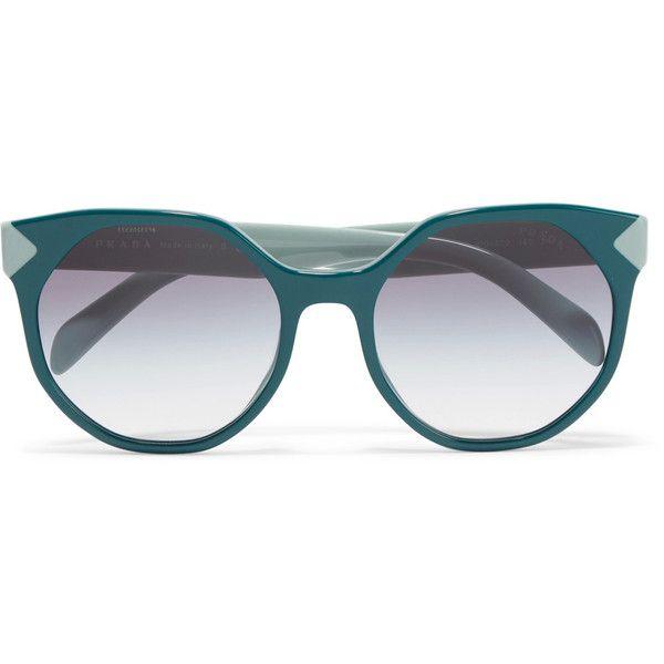 Square-frame Acetate And Silver-tone Sunglasses - Red Prada 68kAEQpXWV