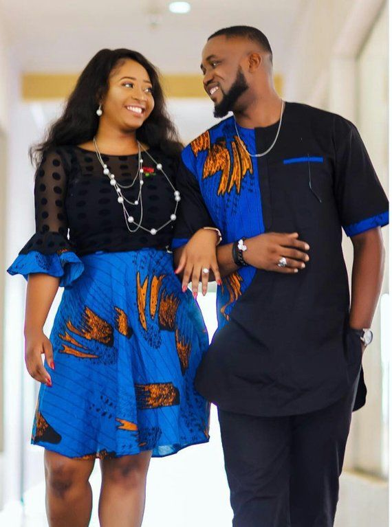 fb90d536b691d5 African print couples set African clothing Matching couples outfit African  couples set Matching Fami