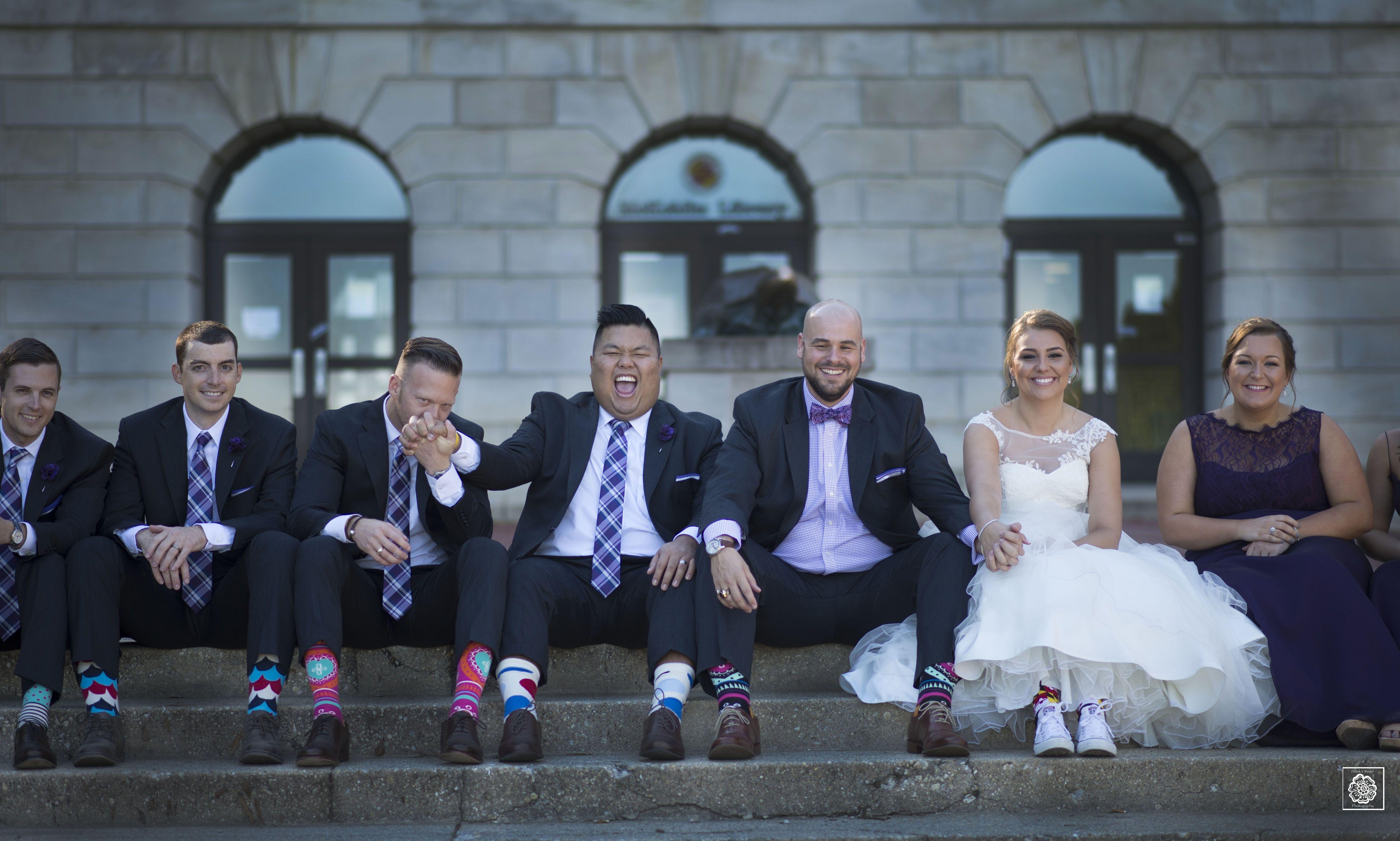 Wedding bridal party portraits maryland university wedding