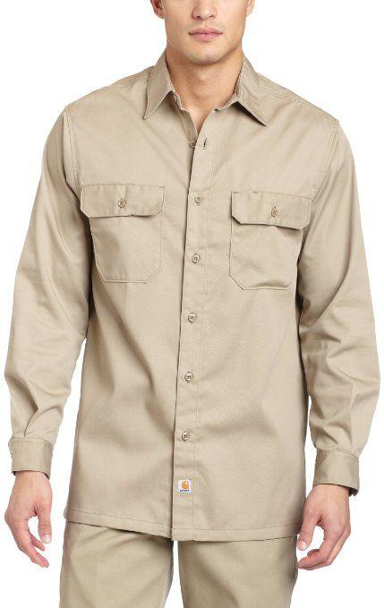 c59a4fee8811 Carhartt Men s Long Sleeve Twill Work Shirt  Clothing