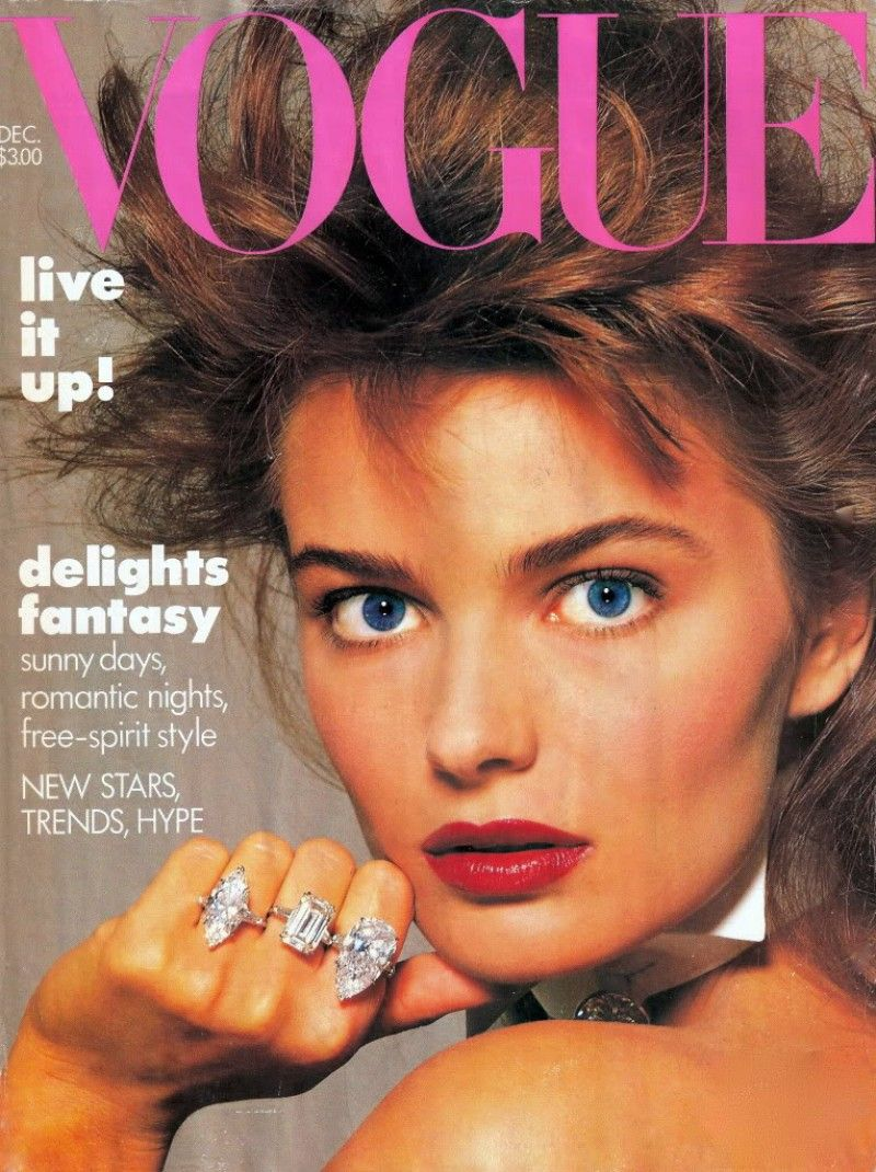Paulina Porizkova by Richard Avedon for Vogue, December 1986.