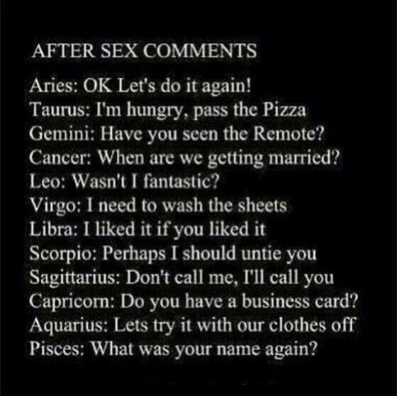Which zodiac sign always ready for sex